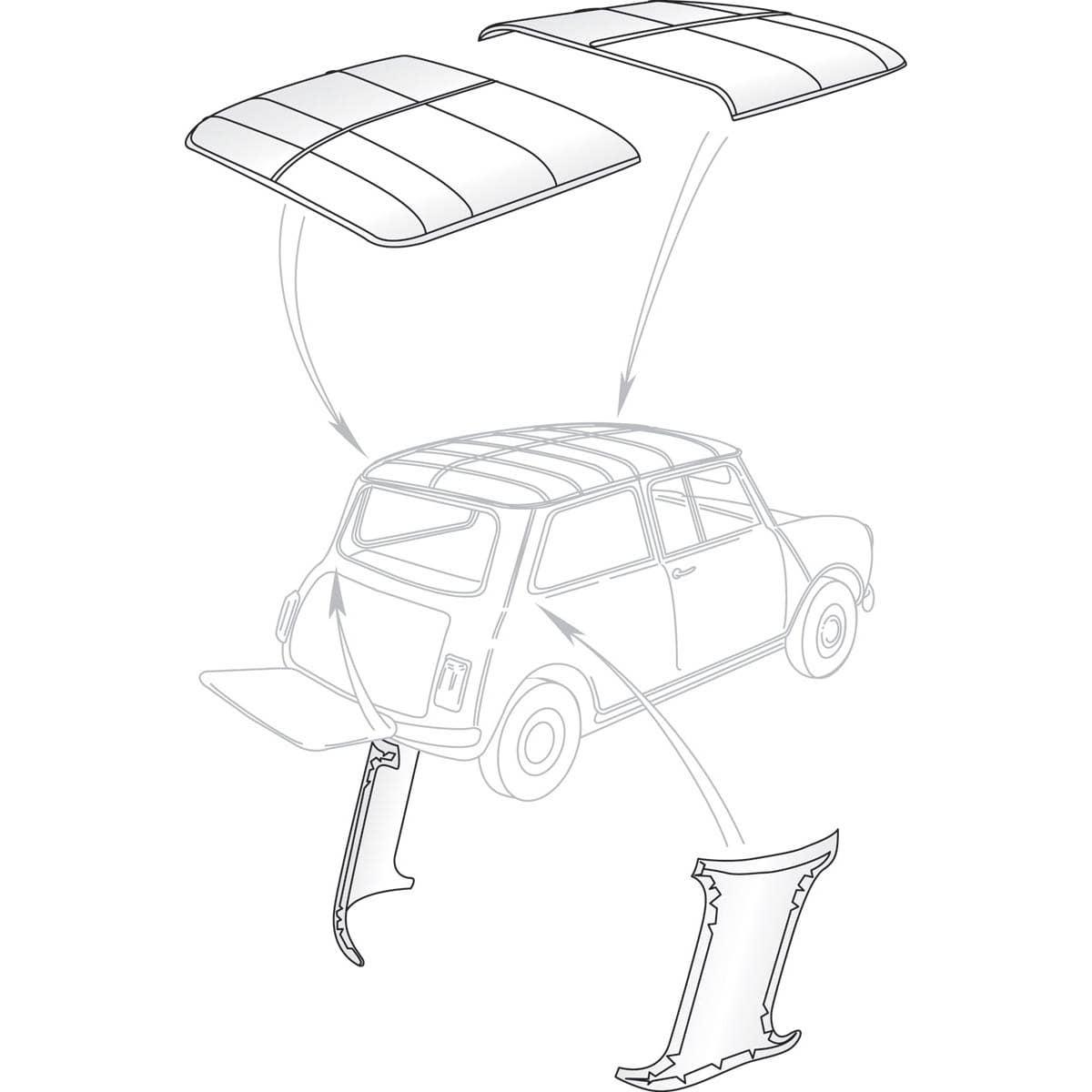headliner kit mkiii interior trim and fittings upholstery 1959 Oldsmobile Ad headliner kit white mkiii