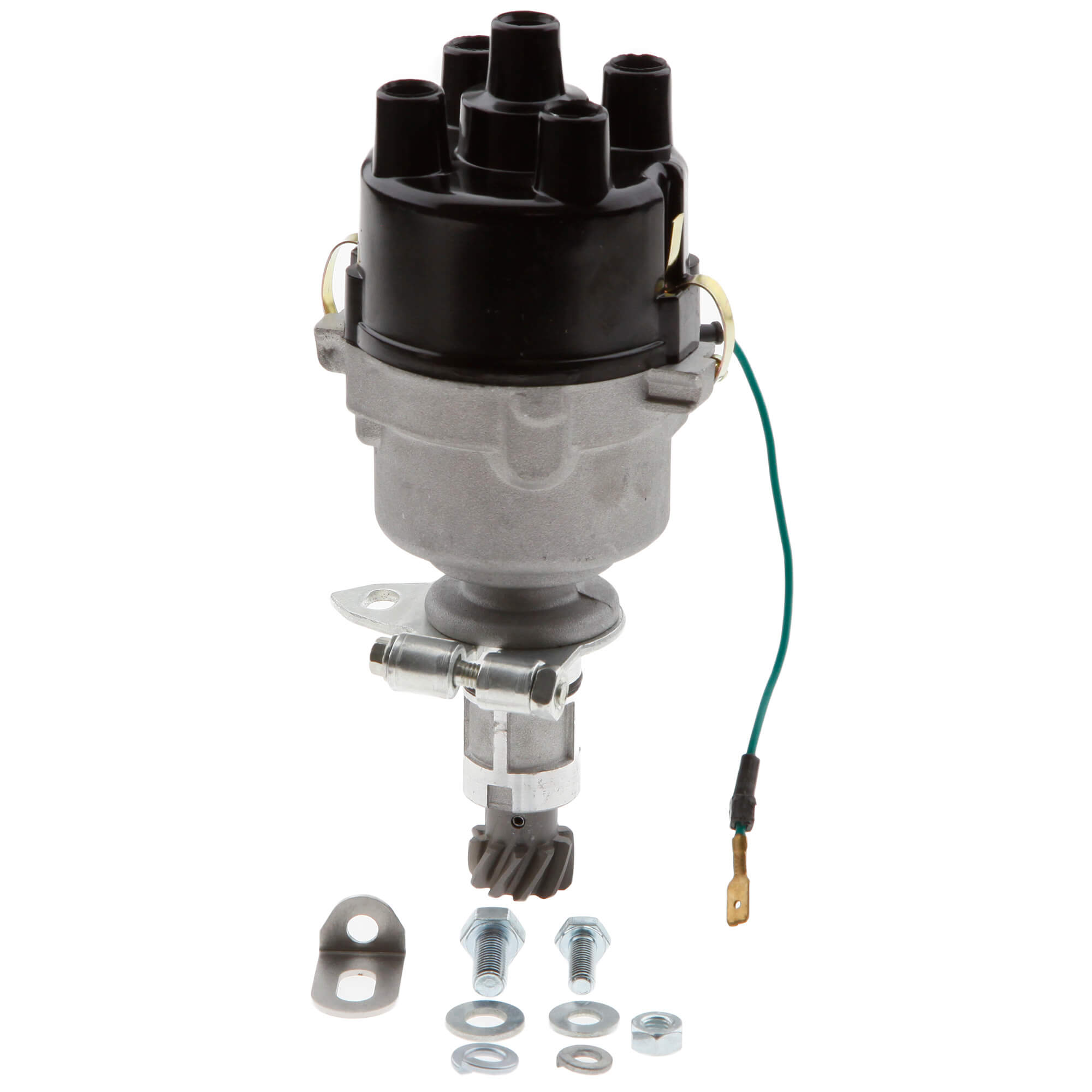 143 175 Replacement Distributor Cap 4 Cylinder Mallory Dual Point Parts W Drive Gear And Hold Down