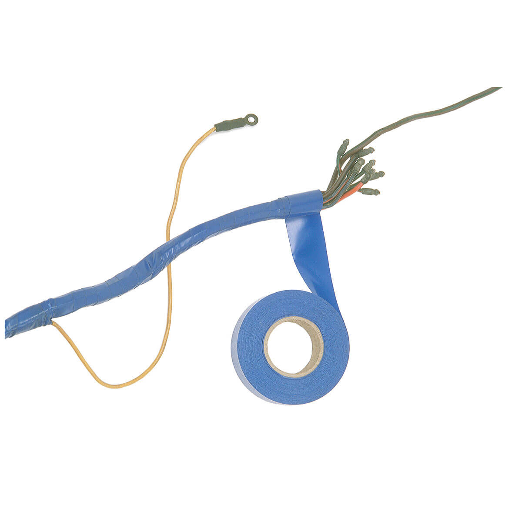 357 130 Wiring Harness Lacquer Braid Moss Motors 1954 Jaguar Xk120 Diagram Tape Blue