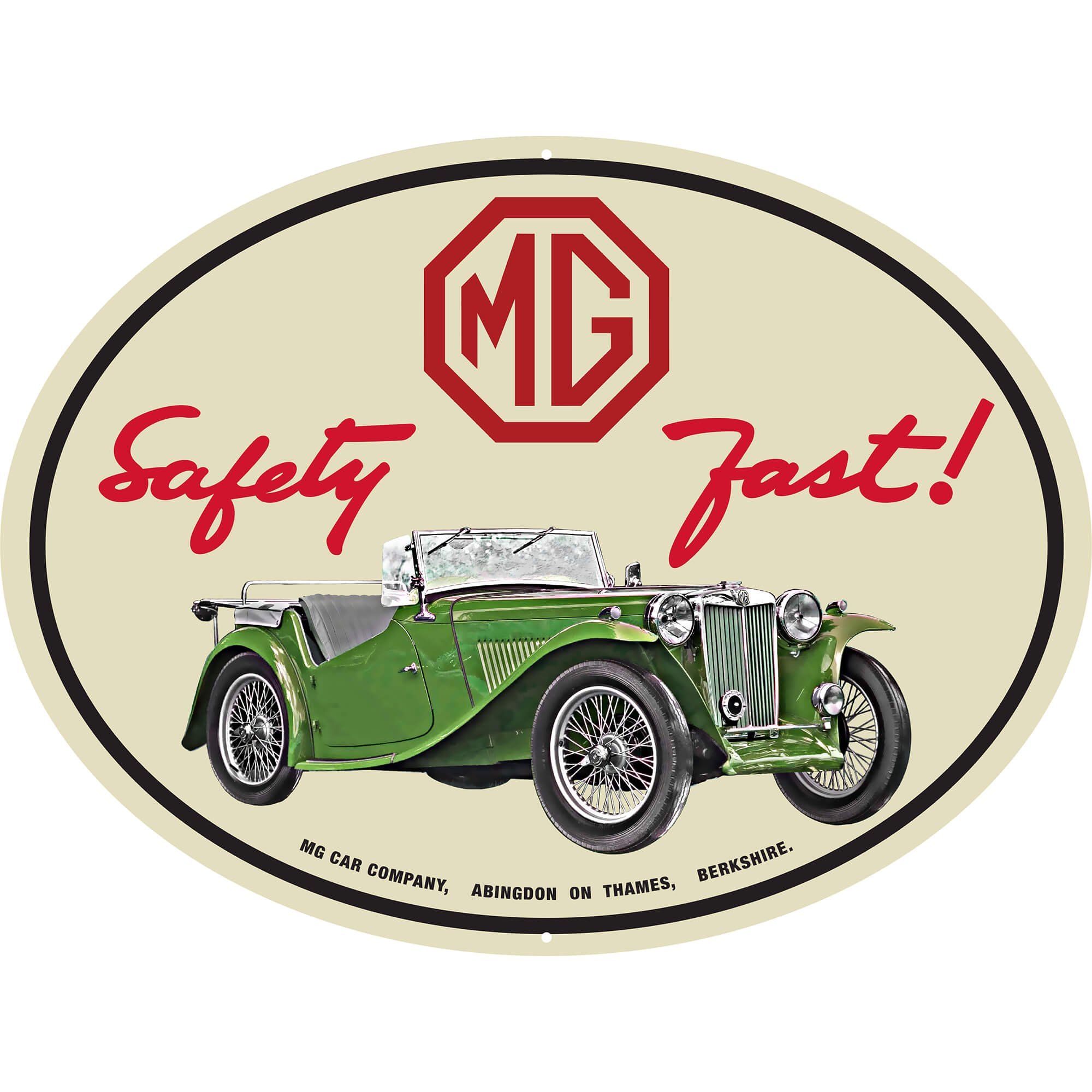 231-350 MG Safety Fast Lighted Sign | Moss Motors
