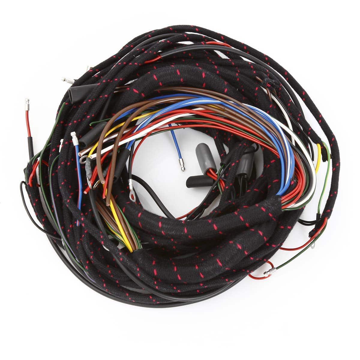 357-060 WIRING HARNESS (lacquer-id) | Moss Motors on mg td chassis, mg td heater, mg td frame, mg td turn signals, mg td dimensions, mg td speedometer, mg td clock, mg tf wiring diagram, mg td specifications, mg td manual, mg td distributor, mg td transmission, mg td parts catalog, mg td wiring harness installation, mg td wiper motor, mg td headlights, mg td rear suspension, mg td generator, mg td cooling system,