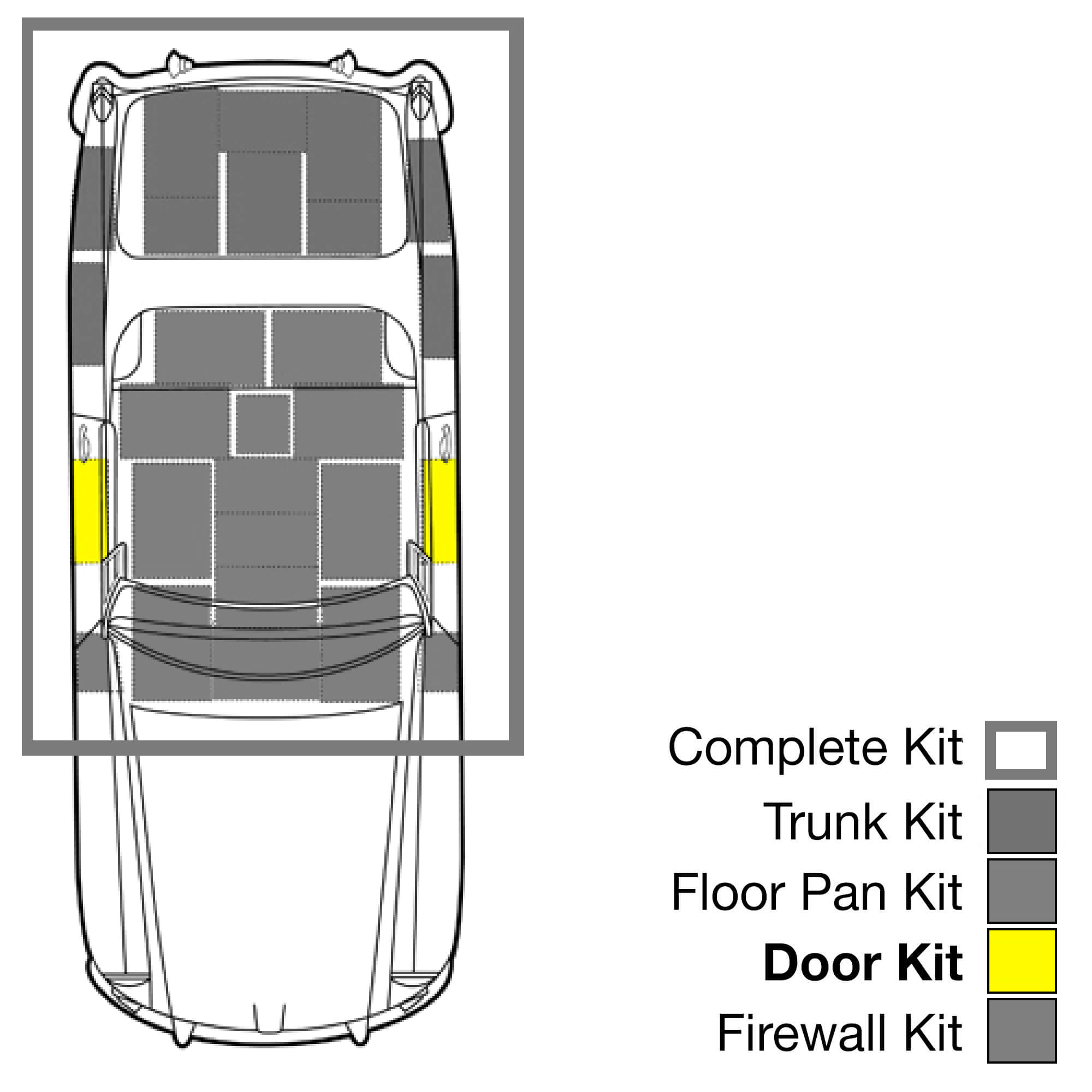 1938-2011 Volkswagon Bug - Roof Hushmat 682005 Sound and Thermal Insulation Kit