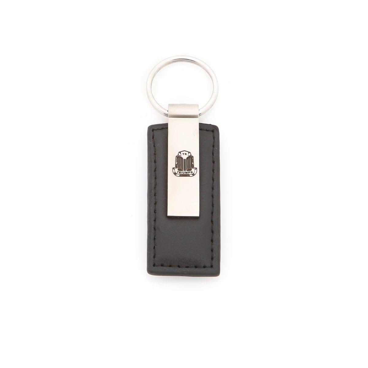 621 027 Triumph Leather Teardrop Key Chain Black Moss Motors