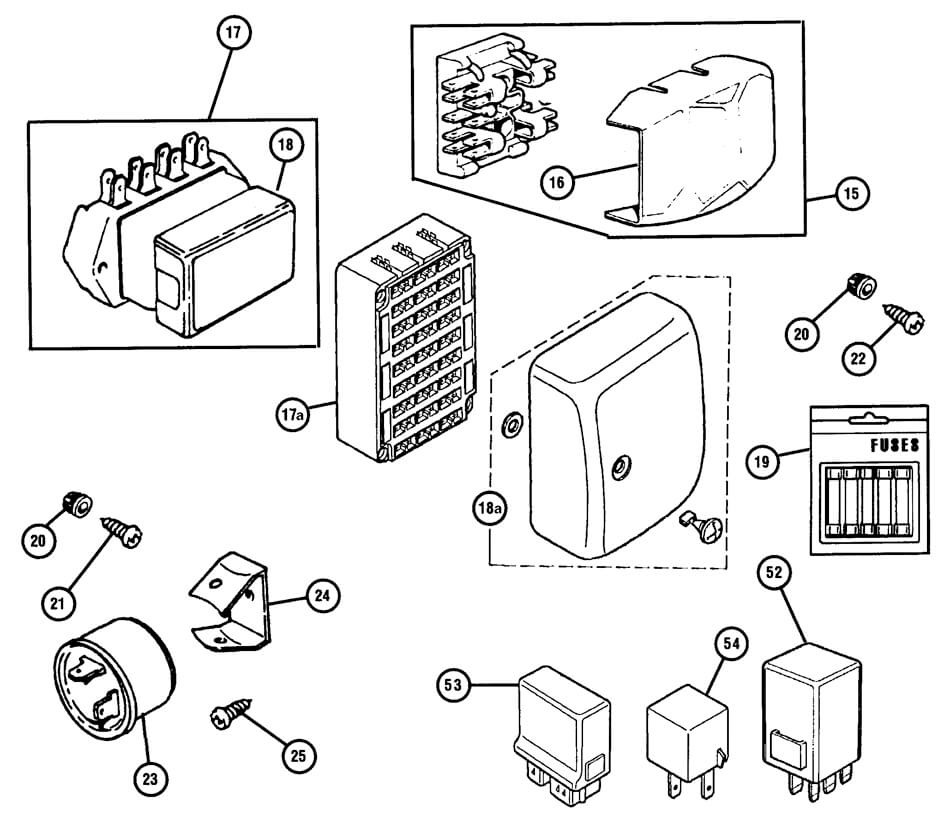 fuse box diagram clip art
