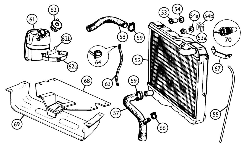 radiator and fittings 1977-80 - cooling