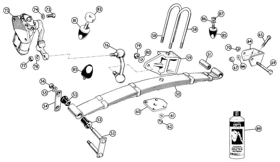 Rear Suspension (solid Axle) TR4A - Rear Suspension