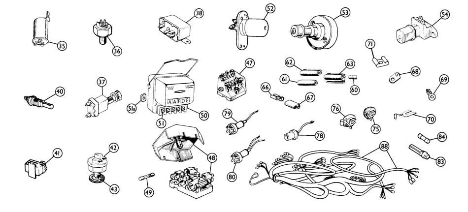 wiring harnesses  u0026 misc  electrical