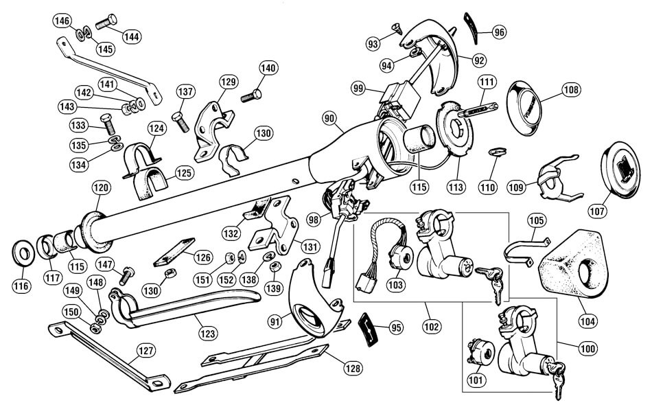 steering column - steering - suspension  u0026 steering