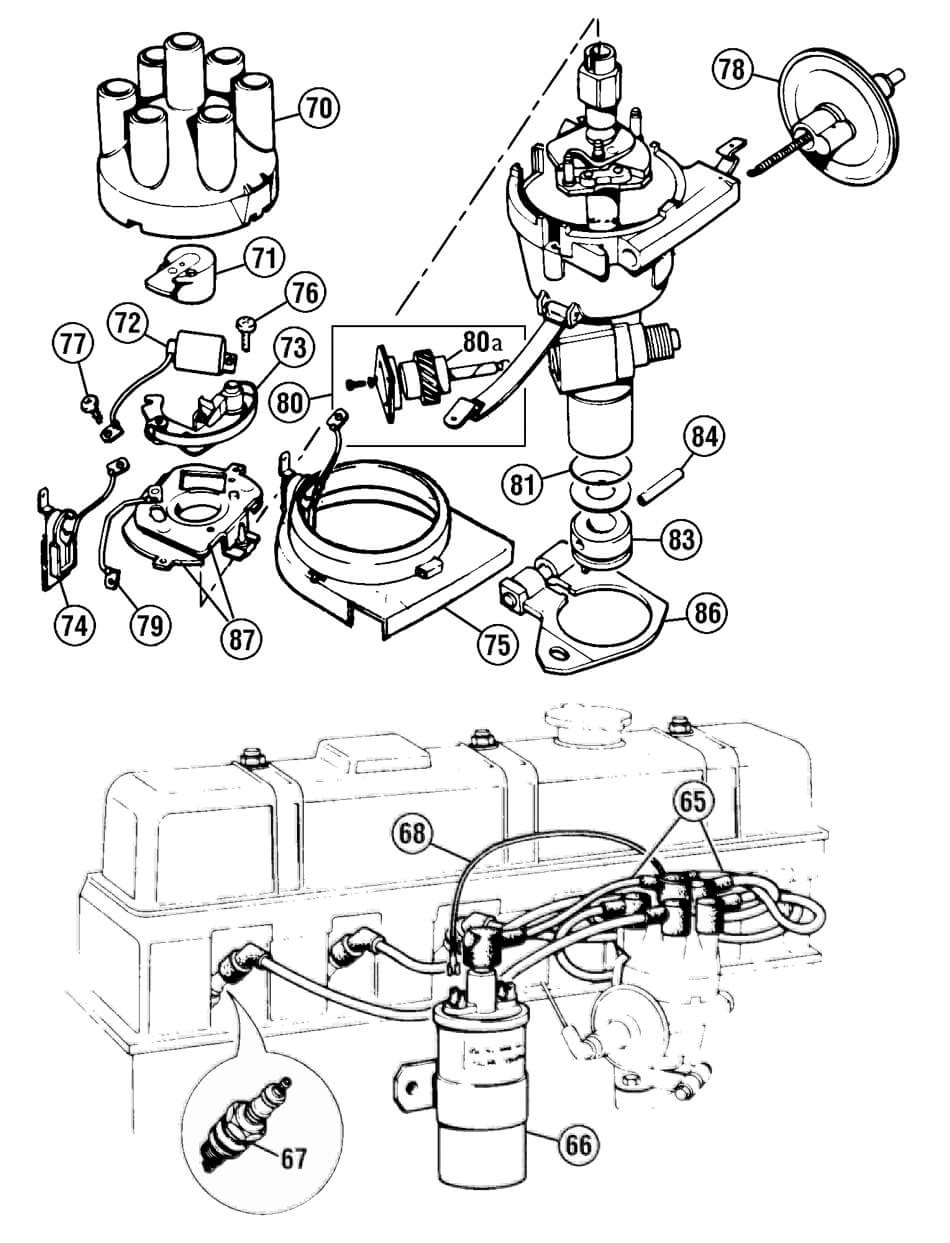 Ignition Electrical Triumph Tr6 250 Tr250 Wiring Diagram