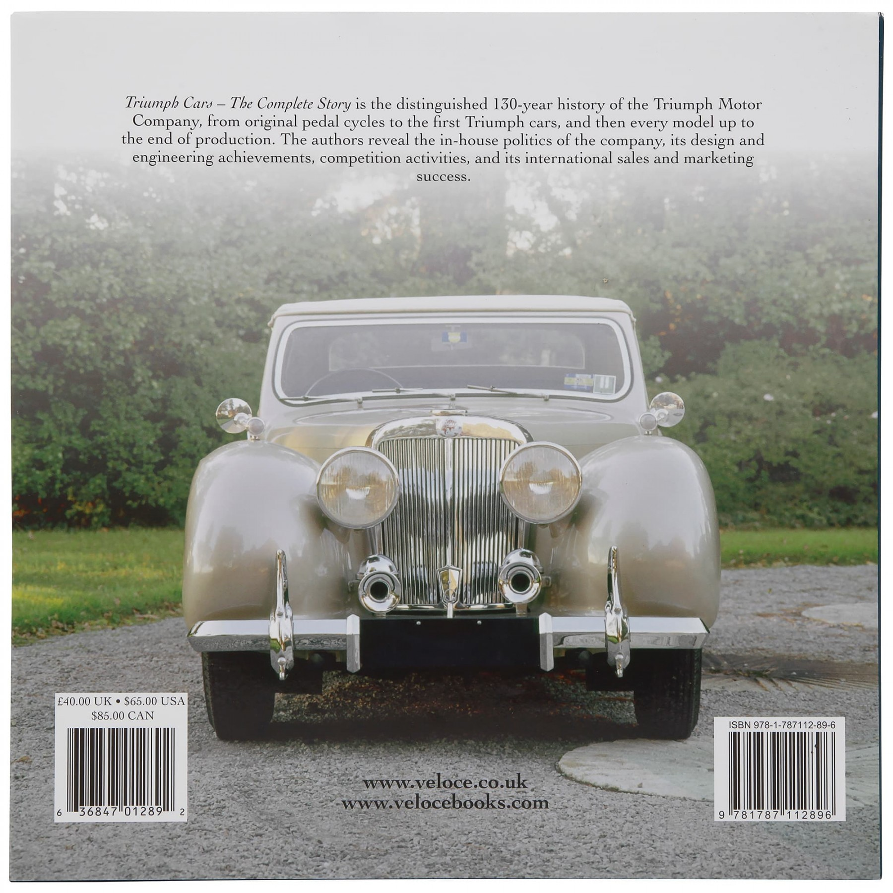 213-385 Book: Triumph Cars - The Complete Story | Moss Motors