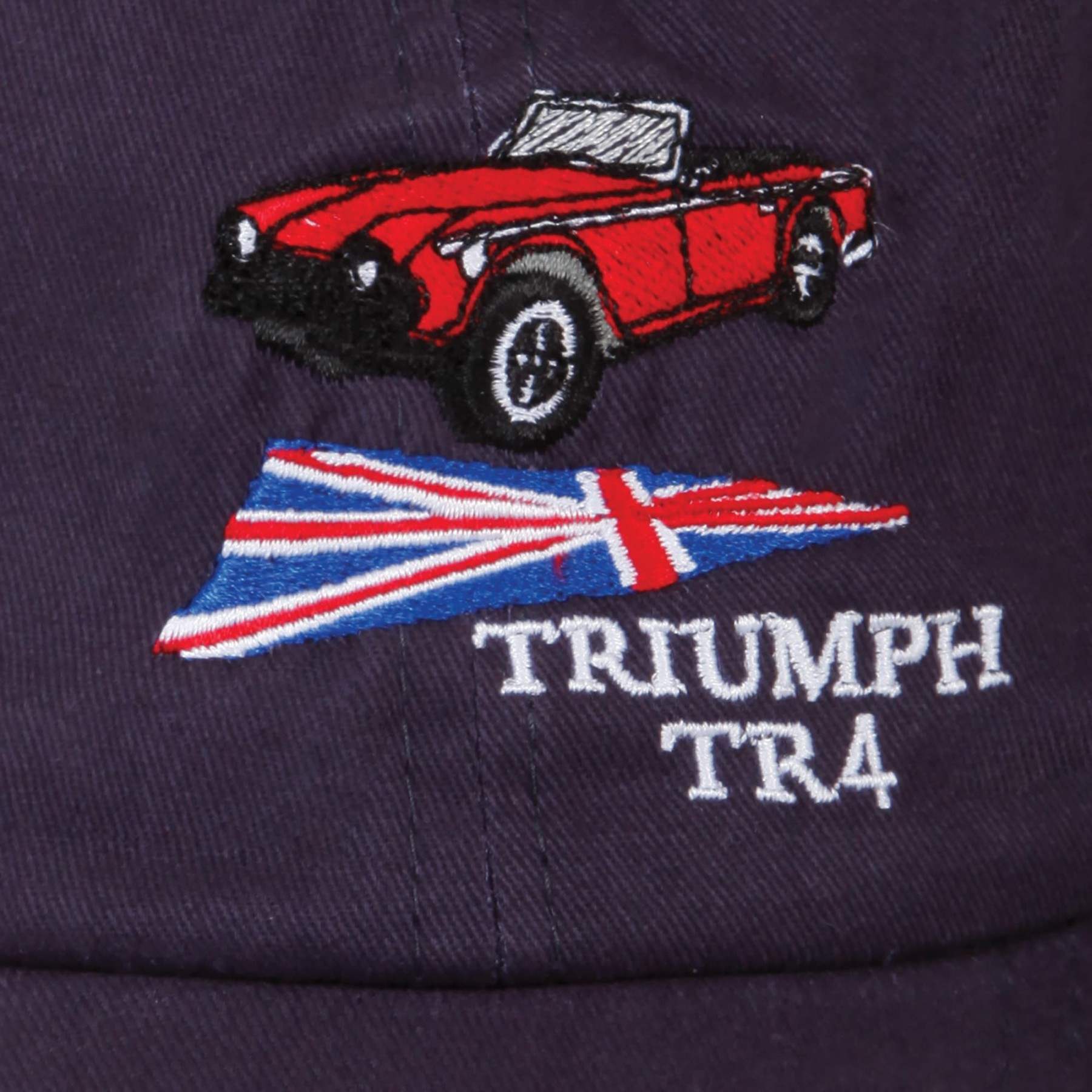 219 947 Triumph Tr4 Hat Navy With Red Sandwich Moss Motors