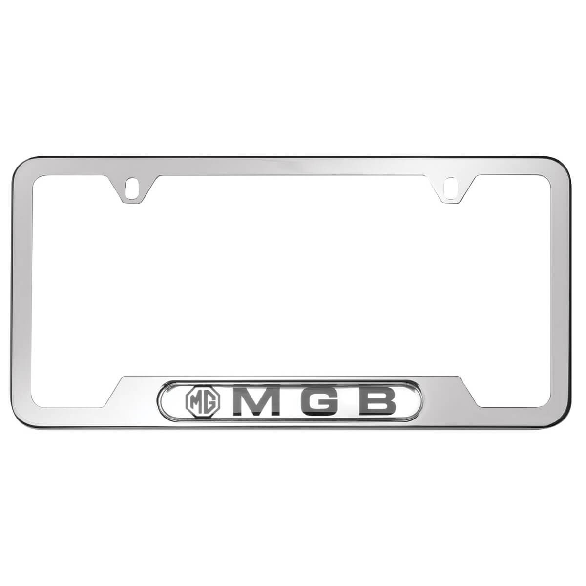 222 796 Mgb License Plate Frame Stainless Steel Moss