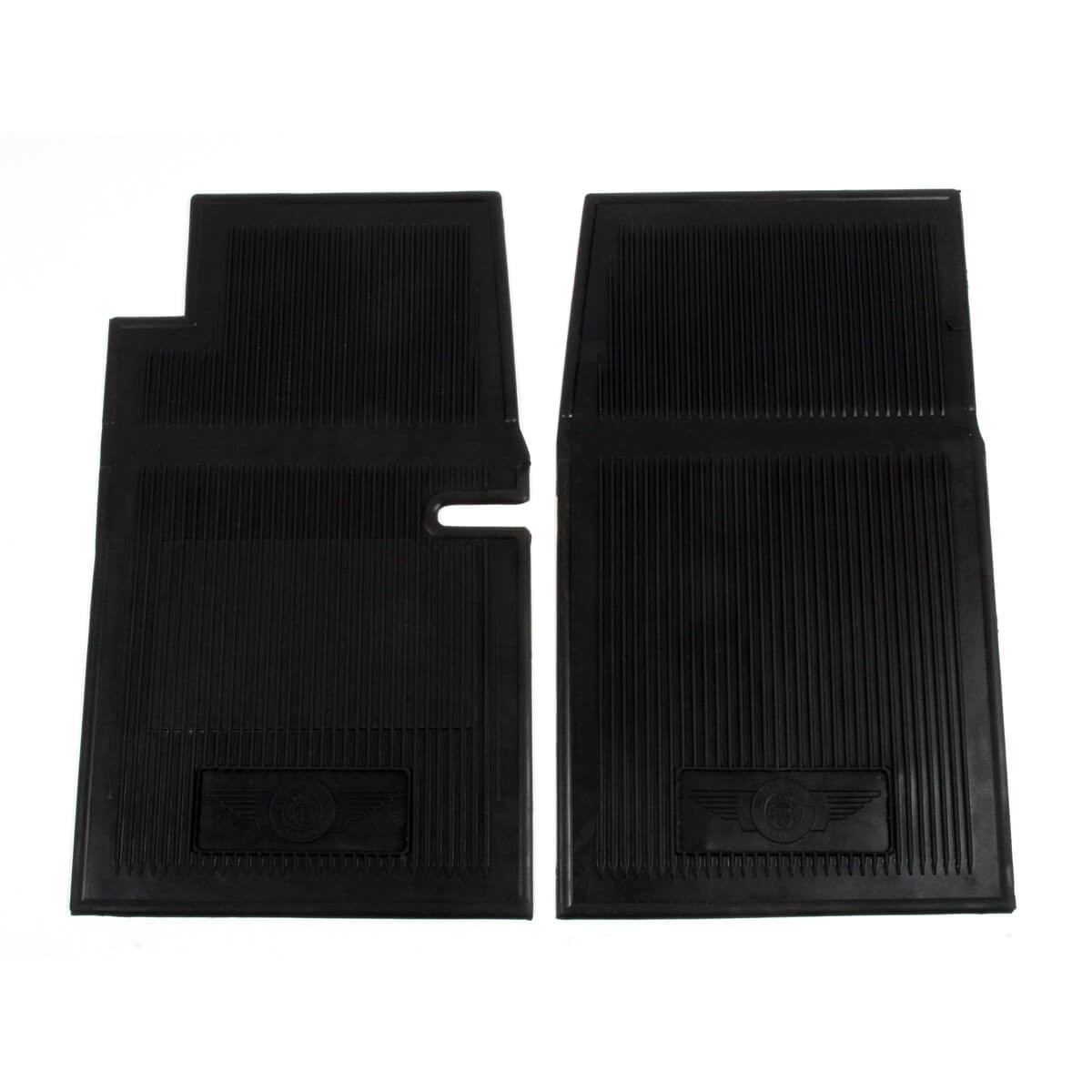 Rubber Floor Mat Set, Black - Carpet Kits & Floor Mats ...