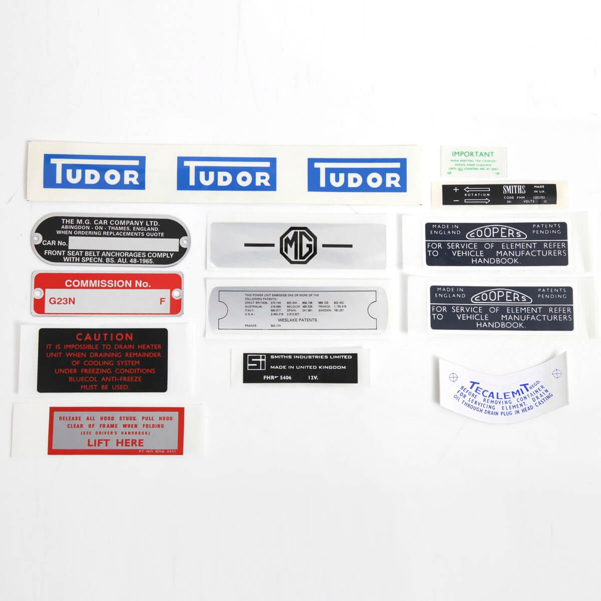 Decal & ID Plate Set - Plates, Decals & Badges - Body Trim ...