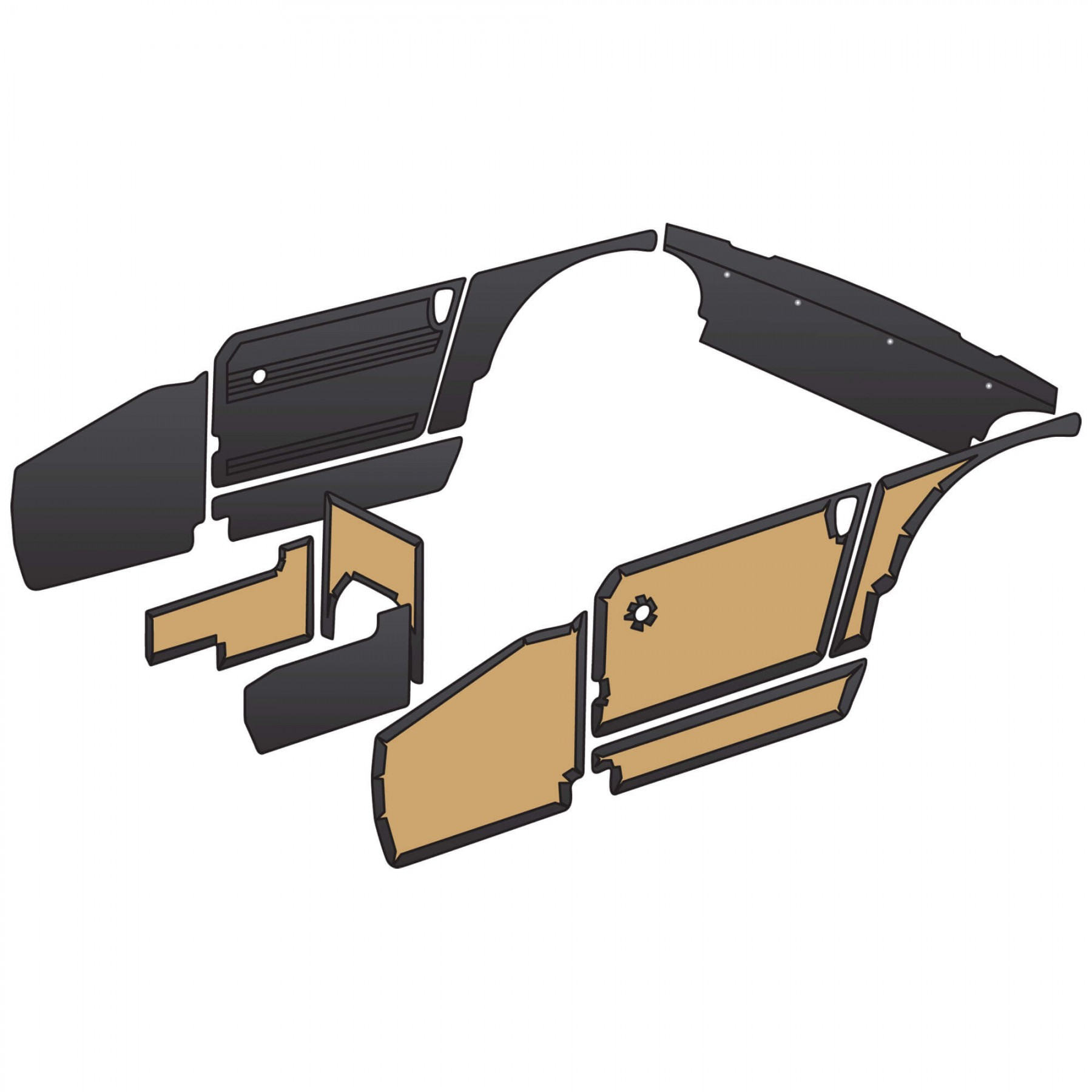 Panel And Trim Kit 1970 80 Upholstery Amp Interior Trim