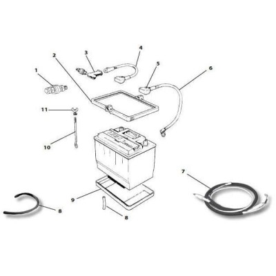 312 040 wing nut  battery hold down moss motors