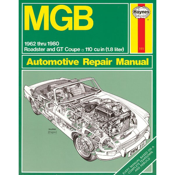 212 405 book haynes repair manual mgb moss motors rh mossmotors com Shop Manual Online Tractor Shop Manuals