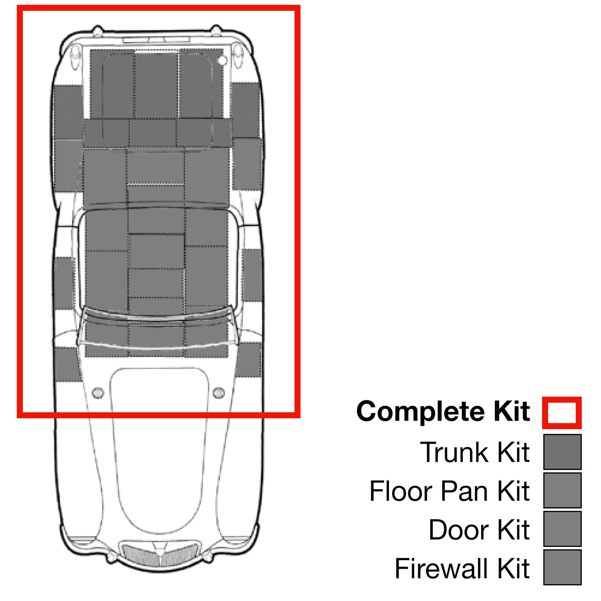 Hushmat Thermal Acoustic Insulation 612711; Floor Kit for 71-73 Ford